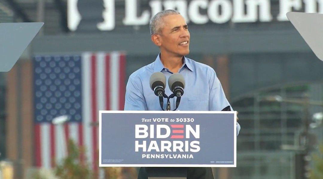 奥巴马在费城为拜登竞选发表演说(完整版)