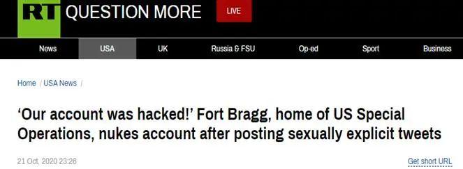 美军基地账号突然发布色情图片,之后戏更多…