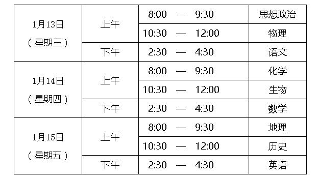 北京明年普高学业水平合格性考试日期确定 已合格科目不得再报考图片