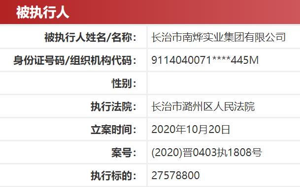 南烨集团怎么了?被法院列为被执行人 数月前拿下长航凤凰控制权图片