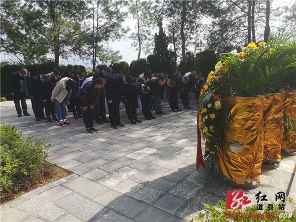 民盟中南六省代表来道县陈树湘烈士纪念园缅怀革命先烈