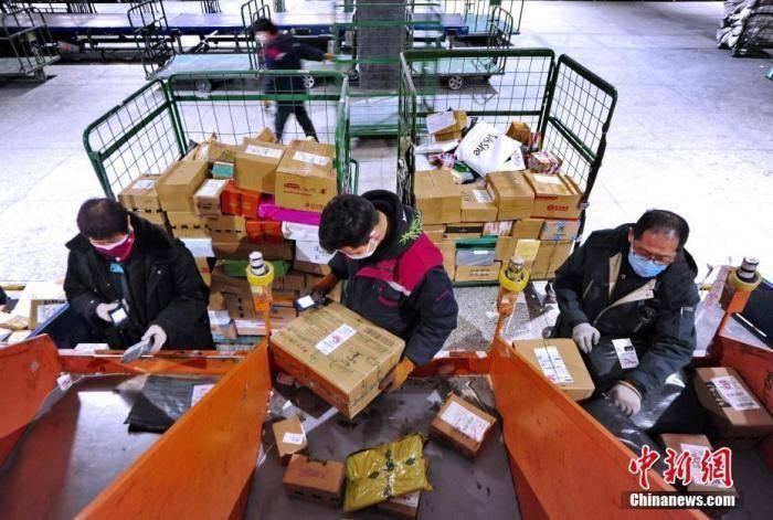 """国家邮政局:""""十三五""""邮政行业业务收入年增22%"""