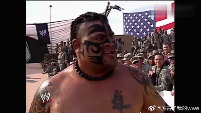WWE:哈迪展现高超技术,四两拨千斤猛锤乌玛嘎,给士兵上一课!