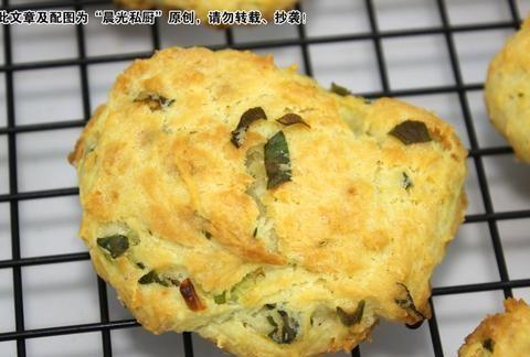 香葱饼干,简单的早餐配方,不用发酵不用揉,外皮酥脆、内心柔软