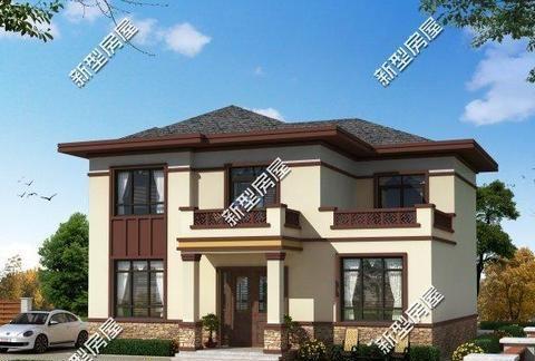 宅基地开间12米,进深10米,四面开窗,怎么设计一栋二层的别墅?
