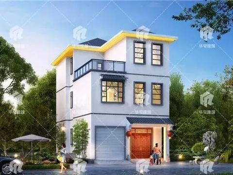 占地面积110平,小开间大进深的农村户型,狭长宅基地建出好别墅