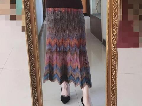 织一条半身裙,能穿春、秋、冬三季,棒针编织附图解教程