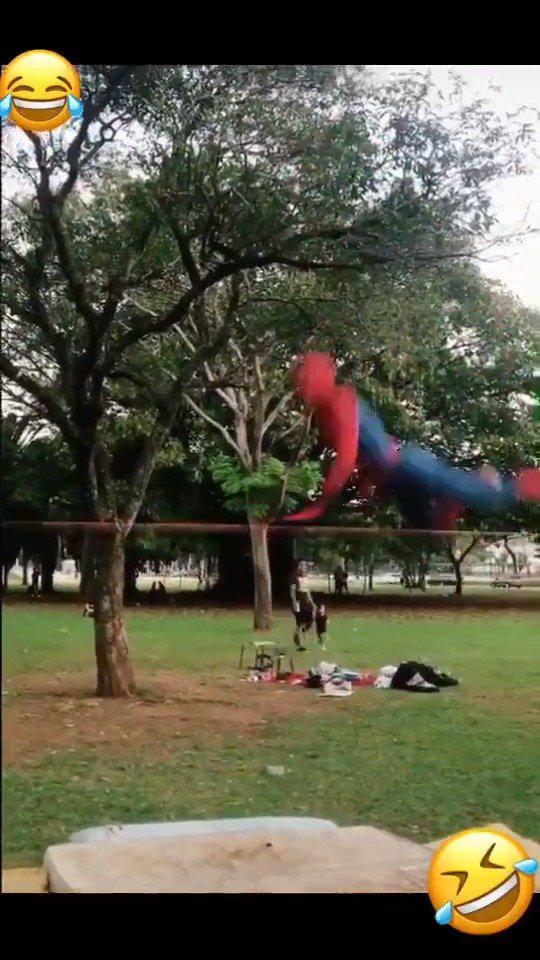 你以为超级英雄不需要锻炼么?看看蜘蛛侠训练视频流出来了