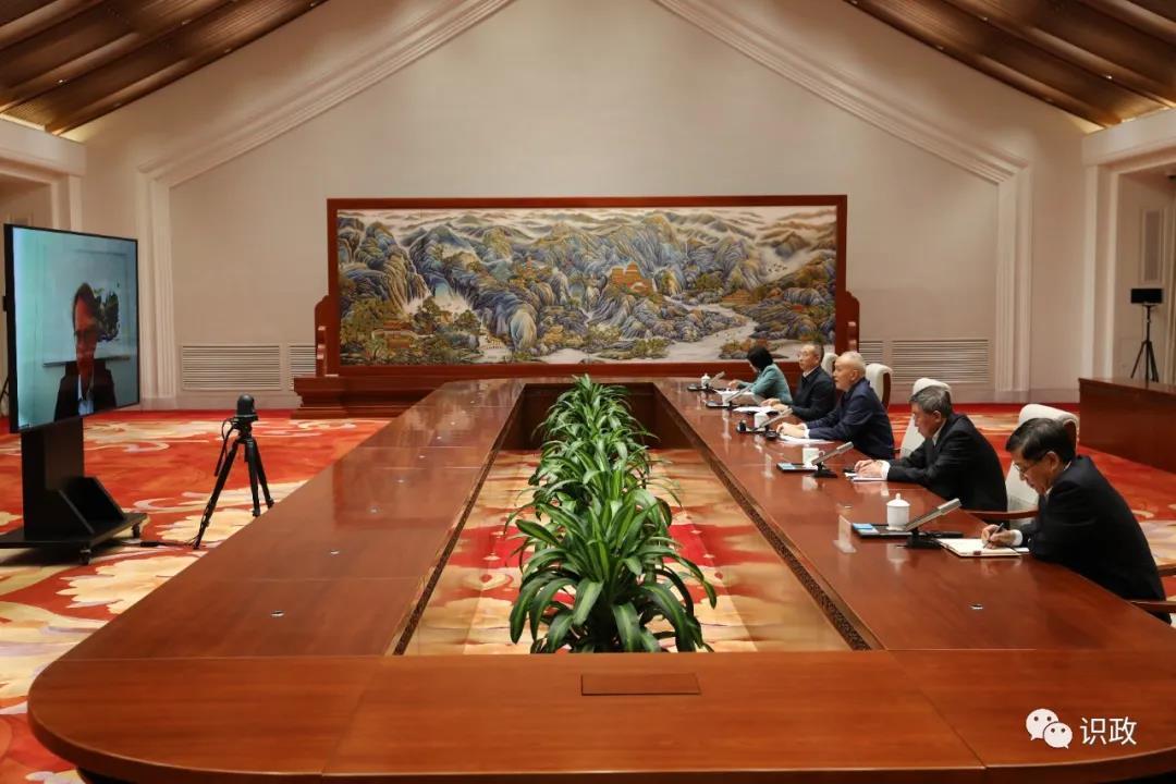 蔡奇视频会见德国霍尔茨布林克出版集团首席执行官