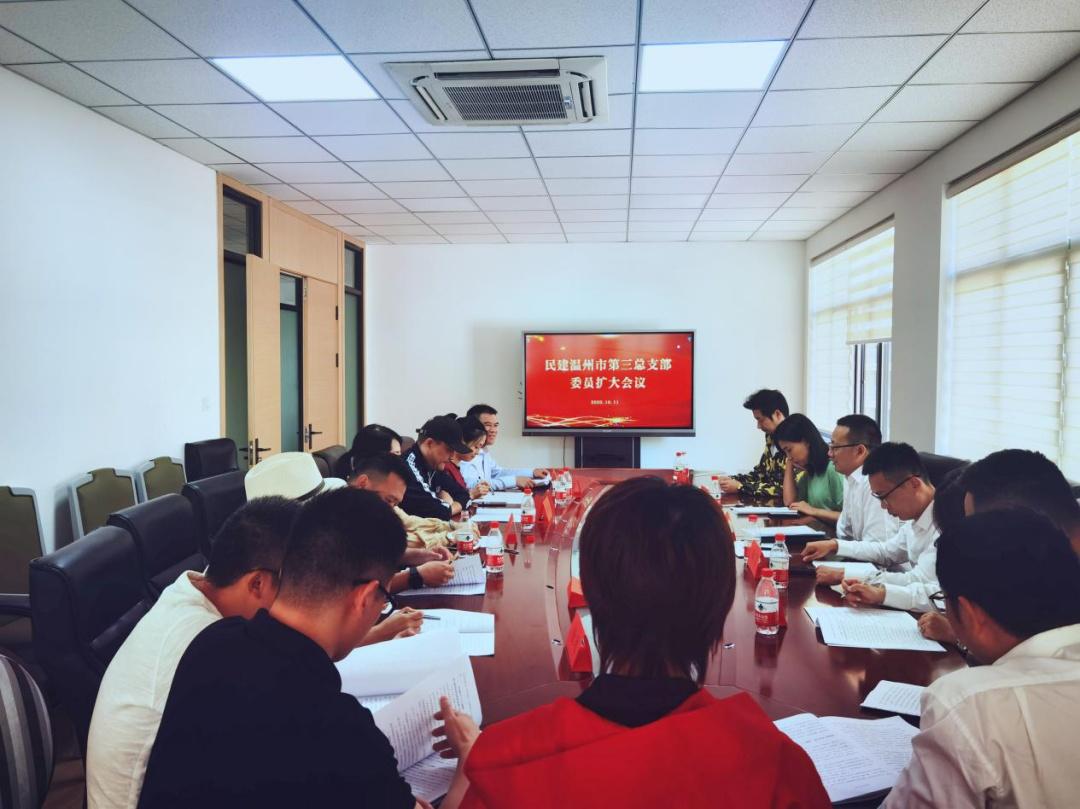 民建温州市第三总支召开新一届班子(扩大)会议