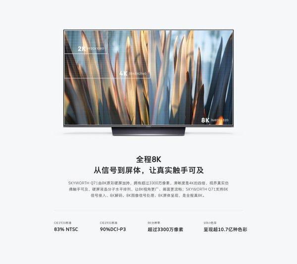 闪耀科技之光的创维Q71电视,持续引领8K新视界