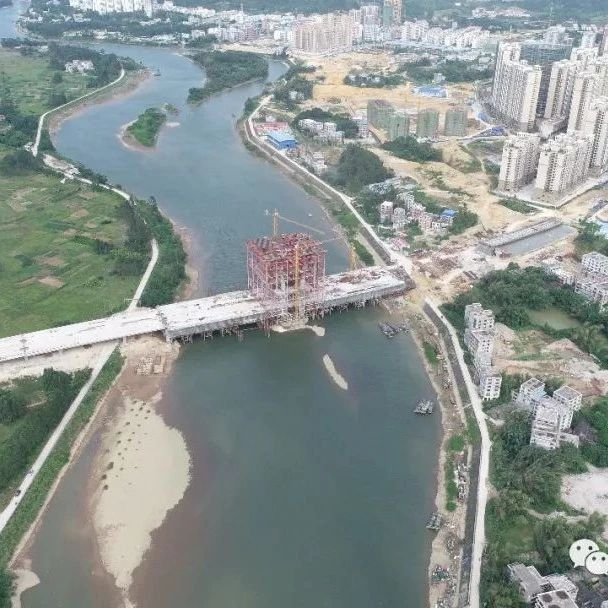 @防城港人快看!备受关注的文昌大桥建设已完成85%!