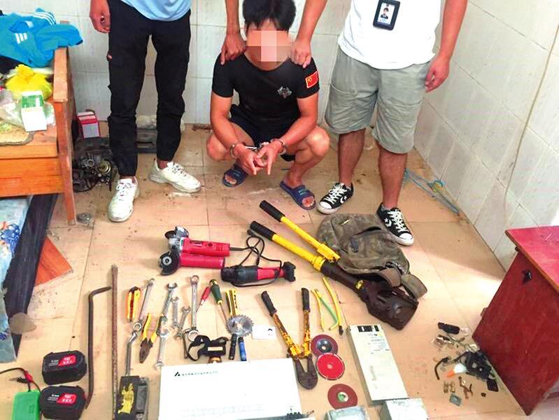 南宁警方破获一起通信基站设备失窃案并抓获两名嫌疑人