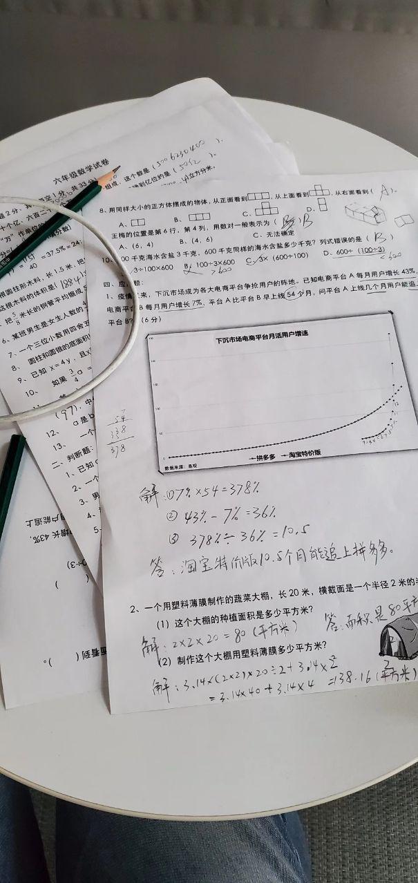小学数学考试惊现商业分析题,网友:我不配上小学...