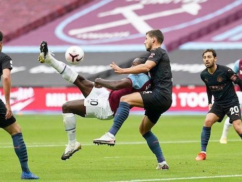 安东尼奥精彩倒钩破门,福登替补扳平!曼城1-1西汉姆联