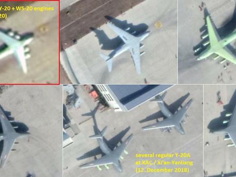 运-20完全体来了,四发换装涡扇-20,彻底摆脱俄制发动机!