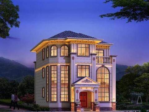 开间10米左右的两栋别墅,第一栋带地下室,浙江农村建得多