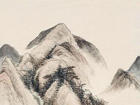 尺幅作品,气象万千,顾鹤逸绘《秋景山水》