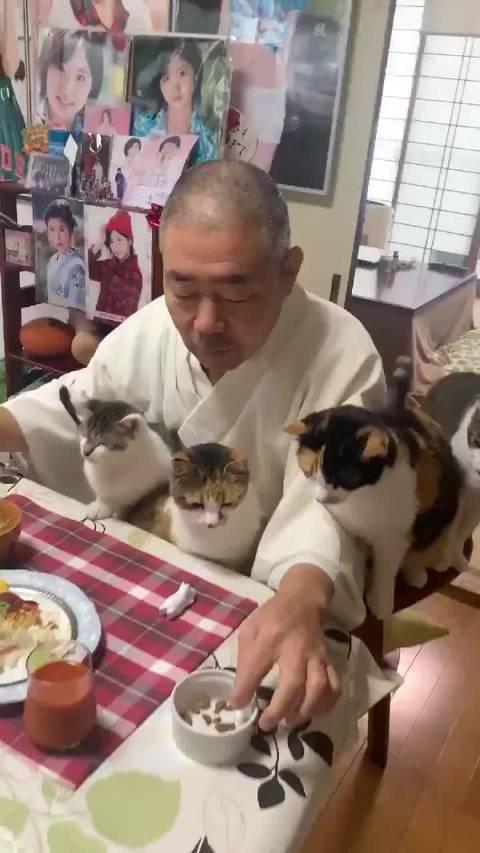 栃木县那须郡长乐寺住持每天的早餐时光