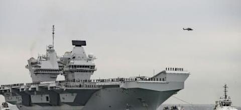 皇家海军光辉不再,王牌航母没有舰载机,护航军舰要靠美国支援