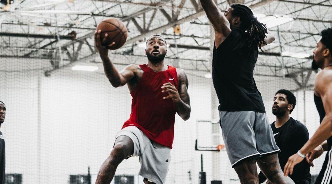 沃尔最新的训练视频!他和欧文、丁威迪等篮网球员一起训练!