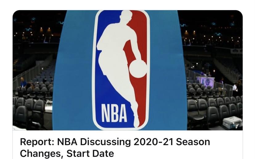 NBA商讨新赛季赛程,常规赛缩水是大概率事件图片
