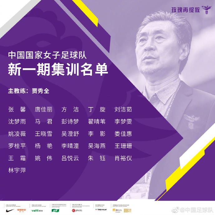 王霜领衔中国女足26人集训名单,将全力备战奥预赛