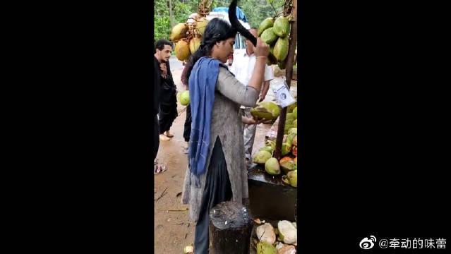 老板你这样开椰子是没有仪式感的……