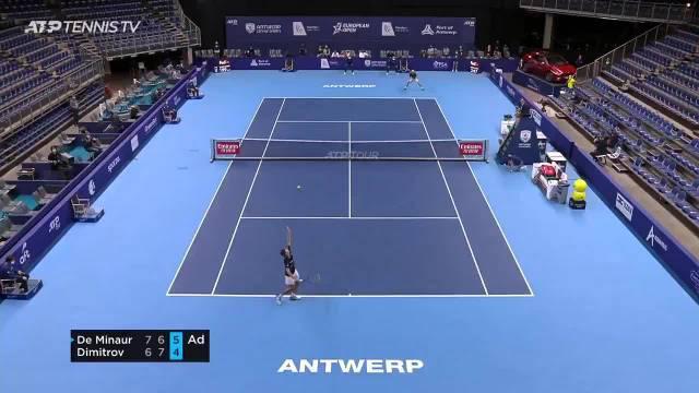 ATP安特卫普站半决赛,8号种子德米纳尔苦战三盘……