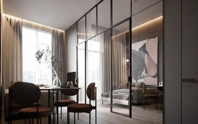 全屋扔掉吊灯,客餐厨一体式设计,44㎡小公寓装修后,简直绝了!