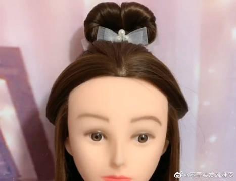 简单温柔的古风发型教程分享,适合中长发的妹子