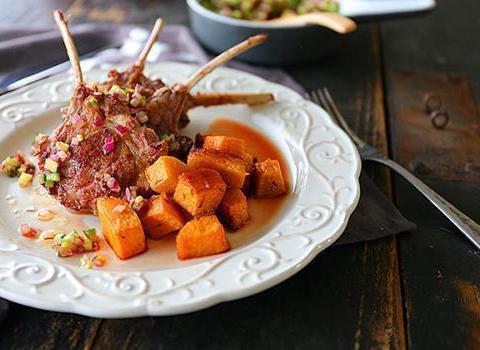 家常美食:青瓜拌豆腐丝,小煎鸡,羊排配烤南瓜