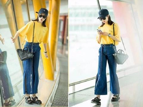 T恤加条阔腿裤,5种技巧搞定时髦和舒适感