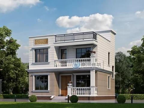 开间9米,二层平顶别墅,造价18万,一栋房子能省好几万