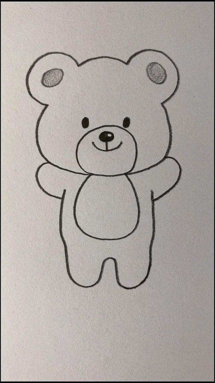 用数字8画卡通小熊