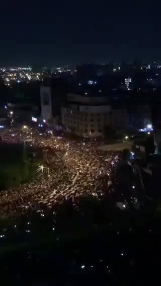 伊拉克巴格达解放广场反腐败集会