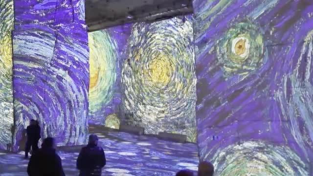 巴黎光影博物馆,梵高作品沉浸式展览,很美很震撼!!