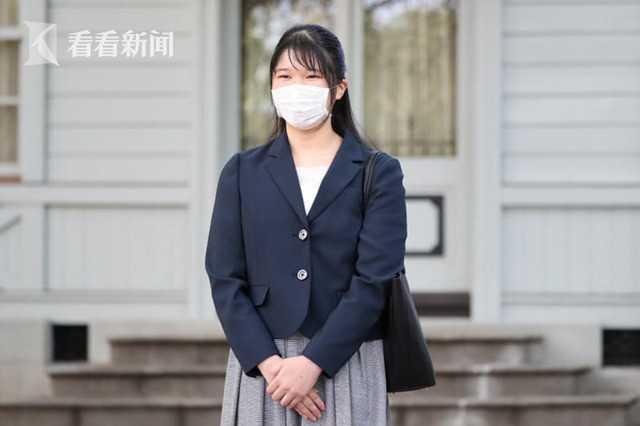 """日本爱子公主大学校园""""新生首秀"""" 戴口罩甜笑 今后仍在皇宫上网课"""