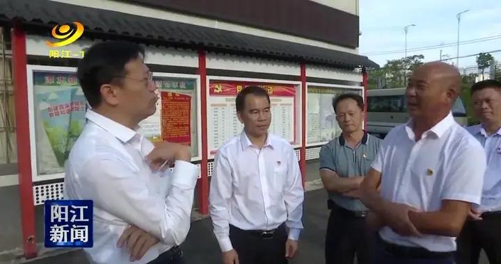 """阳江市领导调研乡村振兴及""""两委""""换届工作"""