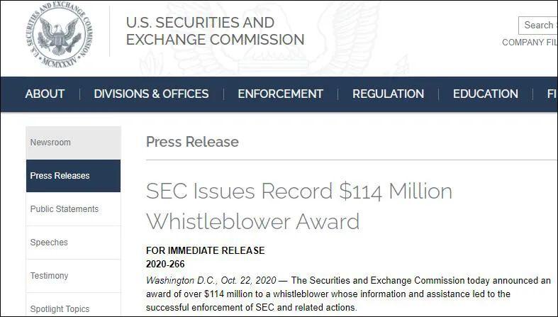 再破纪录:举报=1.14亿美元图片