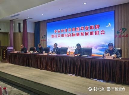 泰安市社会组织党委揭牌暨社会组织高质量发展推进会召开