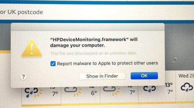 Mac系统出现新bug 打印机驱动程序被认为恶意软件
