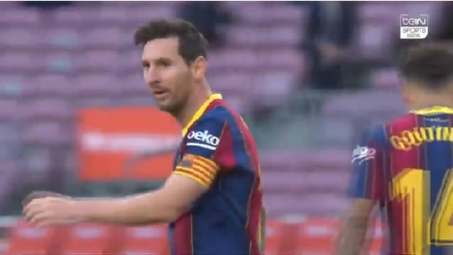 对阵皇马的比赛中BeIN体育捕捉的梅西镜头!
