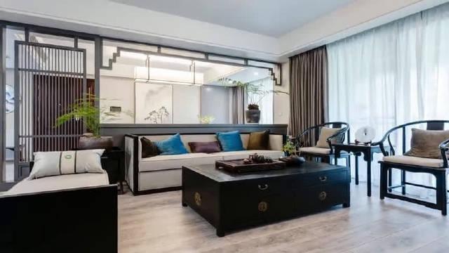 新中式风格装修的大户型房子,现代工艺和传统元素的完美结合