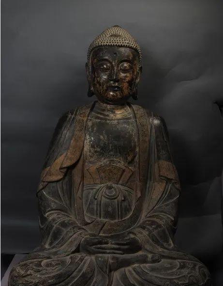 镇原县博物馆精品文物丨明铜佛坐像
