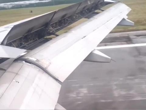 飞机着陆机场的瞬间,机翼为什么要变形?