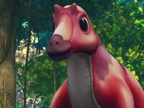 帮帮龙:洛奇救了小恐龙,它被坏人追了,其实那坏人是恐龙妈妈呀