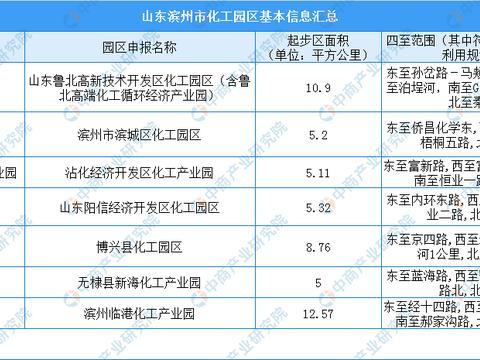 2020年山东滨州市化工园区发展现状分析