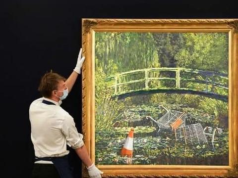 涂鸦艺术家班克斯,一幅油画卖出6600万,遭众多画家质疑