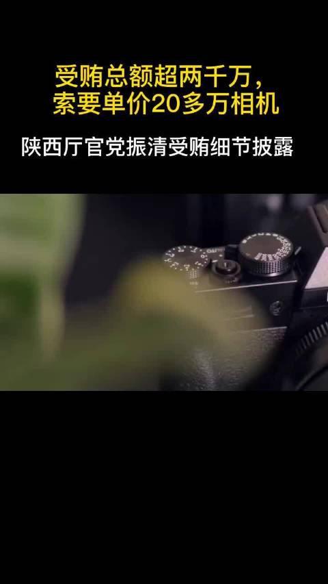 陕西厅官党振清受贿细节披露:超两千万……